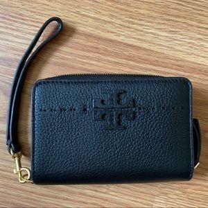 Tory Burch Black Leather McGraw Bi-Fold Wallet